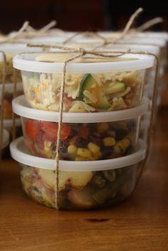 A trio of summer salad recipes from Lulu the Baker | Black Bean & Corn Salad, Marinated Green Bean & Potato Salad, and Italian-Style Pasta Salad