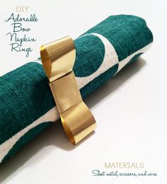 In My First House: DIY: Adorable Bow Napkin Rings