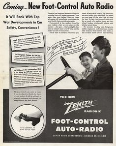 A foot-controlled radio by Zenith. They were ahead of the times in the 40's methinks...