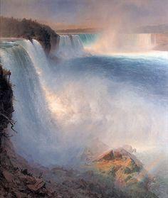 油絵フレデリック・エドウィン・チャーチ_ナイアガラの滝
