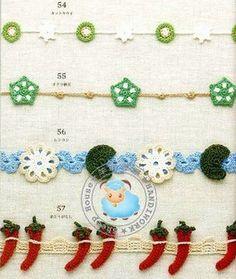 Mini guirlandes décoratives et leurs grilles gratuites !