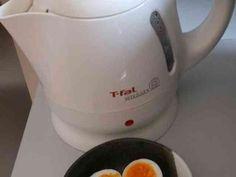 簡単*ズボラ*電気ケトルでゆで卵の画像