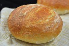 No Knead Bread Recipe: 3 1/4 cups flour, 1/4 tsp dry yeast, 1 tsp salt, 1 1/2 cups, lukewarm water