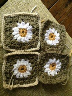 Daisy Granny Crochet Squares