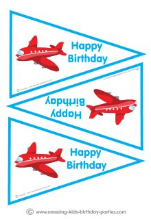 FREE Airplane Birthday Party Flags                                                                                                                                                                                 More