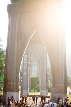 outdoor wedding, Cathedral Park, Portland, OR - photos by top Portland wedding photographer Aaron Courter
