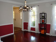 Decorating With Chair Rails On Pinterest Red Living Rooms Paint Ideas And