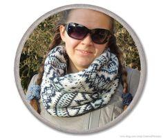 Blue KNITTED SCARF  knit loop #scarf  trendy by CharmeParisien