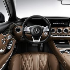 As plush as the interior of the all-new S65 AMG Coupe is, customers also have the option of ordering AMG Exclusive Nappa leather upholstery available in black, porcelain and espresso brown, saddle brown and black, and crystal grey and black.