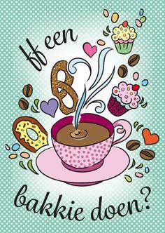 ff een bakkie doen?, verkrijgbaar bij #kaartje2go voor €1,89 #koffie #uitnodiging
