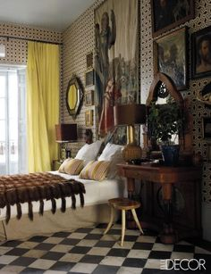 At home in Madrid with antiques dealer and interior designer Lorenzo Castillo.
