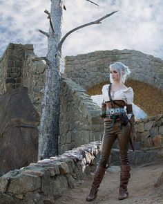 Ciri cosplay from the Witcher 3 by ButtercupBrix Epic Cosplay, Comic Con Cosplay, Amazing Cosplay, Cosplay Girls, Ciri Witcher, Witcher Art, The Witcher 3, Steampunk Costume, Steampunk Fashion