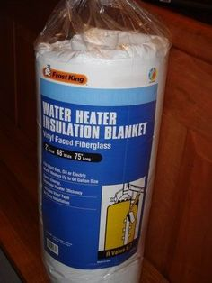 Water heater insulation blanket. I think this would be good to wrap around your outdoor animal waterers in the winter. #chickens #rabbits