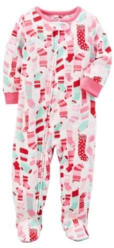 1028bd62ac Little Girls Christmas Stocking Blanket Sleeper Union Suit Pajamas 4   holiday themed favorite