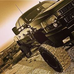 Nice black Chevy, mud tires! :)