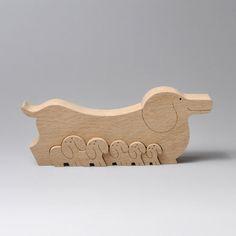 組み木 木のおもちゃ 『遊プラン』 KA119   ダックスフンド                                                                                                                                                                                 もっと見る