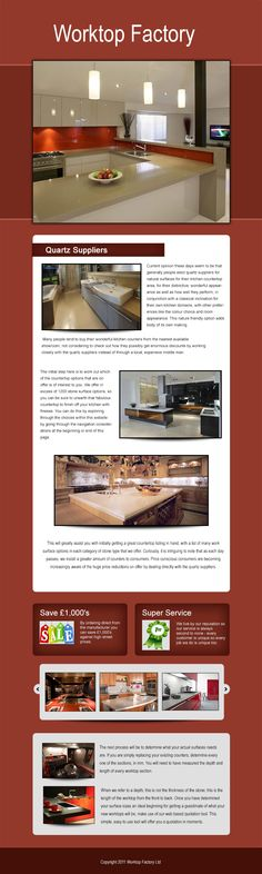 When you buy from The Worktop Factory you are buying at the most competitive prices available in the UK. We offer fantastic prices without compromising on our quality. Why go for man-made materials when you have the real thing at such fantastic prices!.Visit our site http://worktopfactory.co.uk/ for more information on Quartz Suppliers