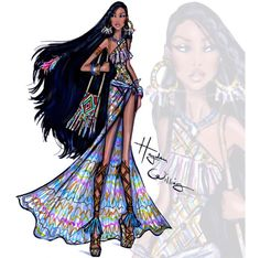 Pocahontas - Beach Beauties 2015 - Hayden Williams Illustrations