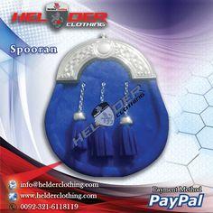 FULL DRESS BLUE SEAL SCOTTISH SPORRAN Artical No: HC-3603  Antique Brass Buckle CHROME KILT PIN  Utility Kilt Brooch