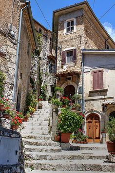 Old World Village of San Donato Valle di Comino, Lazio, Italy