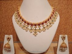 Light Weight Pearl Choker Necklace Designs, Light Weight Gold Pearl Necklace…