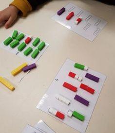 Voici des fiches de manipulation pour construire le nombre.A l'instar des maisons des nombres, j'ai créé des fiches pour manipuler des bâtonnets de calcul, plus communément appelés réglettes Cuisenaire. Ces réglettes ne sont pas sans rappeler le matériel Montessori. Les élèves apprécient la manipulation et retiennent facilement l'association quantité / couleur.  Ces fiches sont à imprimer recto / verso. [wpdm_package id='2942'] [wpdm_package id='... Constellations, Homeschool, Teacher, Activities, Voici, Grande Section, Parents, Preschool Math Activities, Names