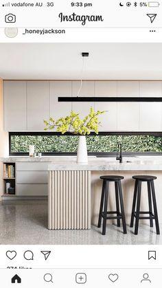 Home Decor Kitchen, Interior Design Kitchen, Kitchen Dining, Interior Ideas, Dining Rooms, Modern Interior, Luxury Kitchens, Cool Kitchens, Küchen Design