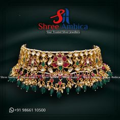 Find the most wondrously crafted, regal choker necklace from Shree Ambica - Your Trusted Silver Jewellers crafted using captivating Moissanites and gems to cater to your ' Ultra-Regal' fix. Pick this for the upcoming festive/wedding season. Readily available in stock For Price and Details Message on - +919866110500 #ShreeAmbica #TrustedJewellers #SilverJewellery #indianbride #indianwedding #jewelryaddict #handcraftedjewellery #finejewellery #weddingsutra #jewelryforsale #jewelryswag Silver Jewellery, Fine Jewelry, Wedding Sutra, Jewellery Designs, Wedding Season, Handcrafted Jewelry, Chokers, Gems, Necklaces