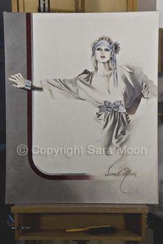 Original Sara Moon Artwork For Sale Moon Painting, Painting & Drawing, Sarah Moon, Art Drawings Sketches Simple, Moon Art, Oil On Canvas, Original Artwork, Art Gallery, Art Deco