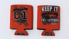 """Can Koozie """"Keep It Between the Ditches"""" (Orange)"""