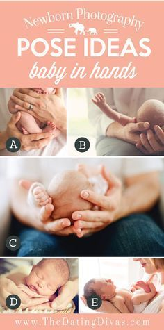 Precious Newborn Photography Pose Ideas with Baby in Hands
