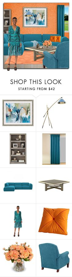 """FASHION MEETS DECOR"" by arjanadesign ❤ liked on Polyvore featuring interior, interiors, interior design, home, home decor, interior decorating, Flow Wall, Costarellos, Fiesta and New Growth Designs"