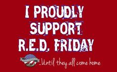 Hampton Roads Military Relocation Team: support RED Fridays, buy the t-shirt Airforce Wife, Usmc, Marine Mom, Marine Corps, Friday T Shirt, Remember Everyone Deployed, Air Force Mom, Red Friday, Military Mom