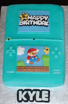Mario Nintendo DS cake - For all your cake decorating supplies, please visit craftcompany.co.uk