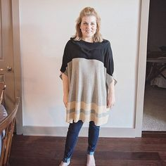 I'm not a huge fashionista for obvious reasons... I'm short & I love food way too much.  You would never know I have a 6 ft tall Mother 😉. BUT- I absolutely love this poncho from my latest #stitchfix perfect for fall! @stitchfix sooooo comfy! #stitch