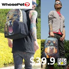 we love animals. New Designer Animal Face 3D Chocolate Lab Puppy Backpack with your pets pics ! #whoespetbags