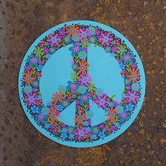 TURQUOISE PEACE SIGN CAR MAGNET - Junk GYpSy co.