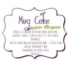 Etiquette Mug Cake