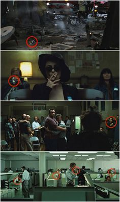 "Director David Fincher has claimed in interviews that there is at least one Starbucks cup visible in every scene in the movie. 25 Things You Didn't Know About The Movie ""Fight Club"" David Fincher, Brad Pitt, Fight Club Rules, Marla Singer, Non Plus Ultra, Cinematic Photography, Film Inspiration, Movie Facts, Famous Movies"
