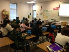 students engaged in the #classroom #thegiver #edchat