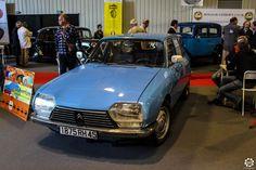 #Citroën #GS au salon Auto Moto Retro de Rouen. Reportage complet : http://newsdanciennes.com/2015/09/28/grand-format-auto-moto-retro-de-rouen/ #Cars #Vintage #Classic_Cars