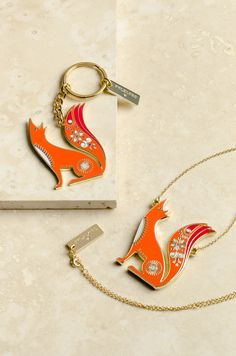 Folklore Fox Necklace and Keyring by Wild & Wolf