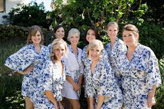 bridesmaid and groomsmen gifts summer bathrobe navy by ForBride