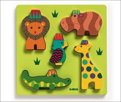 #Zoo #puzzle by #Djeco from www.kidsdinge.com https://www.facebook.com/pages/kidsdingecom-Origineel-speelgoed-hebbedingen-voor-hippe-kids/160122710686387?sk=wall