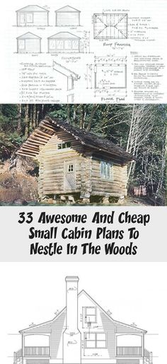 33 Free or Cheap Small Cabin Plans to Nestle in the Woods ...