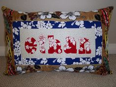 Personalized Kids Pillow Hawaii Theme