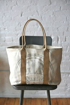1940s era Feed Sack Carryall - FORESTBOUND