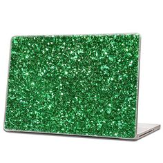 Emerald Green - Glitter Laptop Skin (hex .015) by IridescentBeauty, $40.00 - Love! Glamorous and affordable.