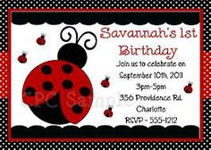 Get Ladybug 1st Birthday Invitations Ideas FREE Printable