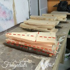 Precut Materials and measurements to build an chair spindle wooden caddy The Interior Frugalista